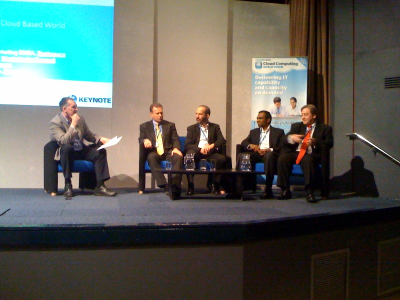The final all male panel at the Cloud Computing World Forum 2010