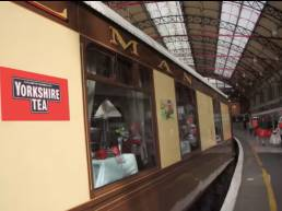 The Yorkshire Tea Train about to leave London Victoria
