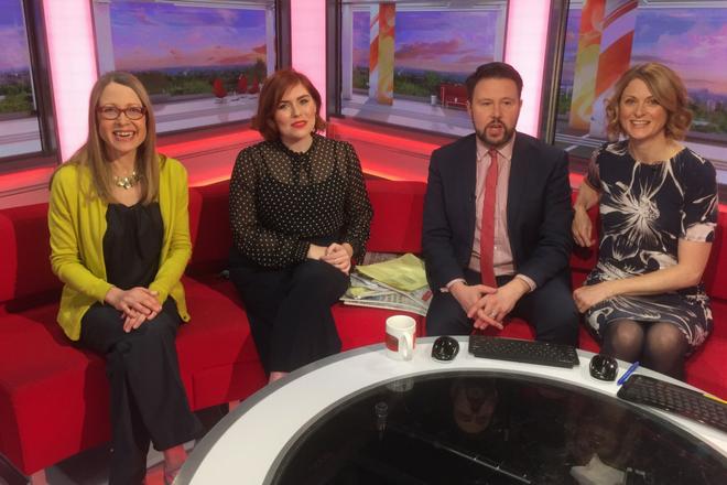 With BBC Breakfast presenters in the Media City studio
