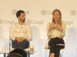 Ryan Shea and Melanie Shapiro at CogX18