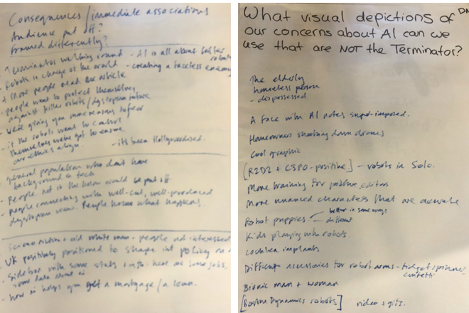 Notes from AI Narratives workshop
