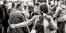 Woman taking a selfie by Johann Ebend